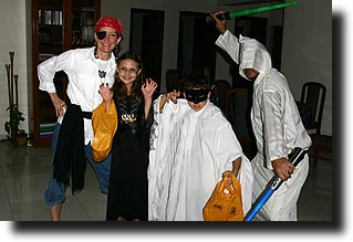 Stutz family at Halloween 2007