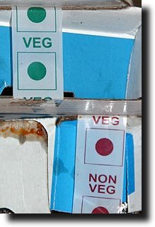 Domino's Veg and Non-Veg stickers
