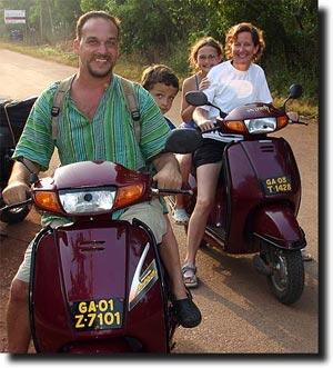 The Stutz Family in Goa, India November 2007