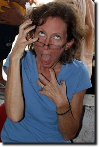 Susan after traveling in India