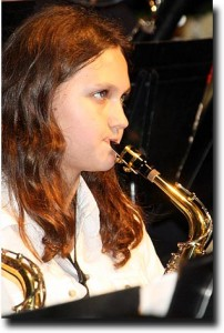 Alea on the sax - winter 2009