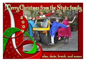 Family Christmas Rickshaw
