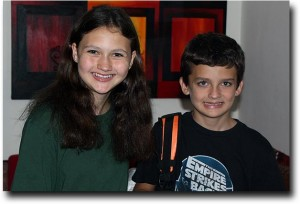 Alea and Breck get ready to head out to middle school at the American School of Bombay