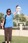 Susan plays with Muscat's newest city symbol.
