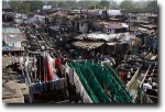 Looking down at the dhobi ghats