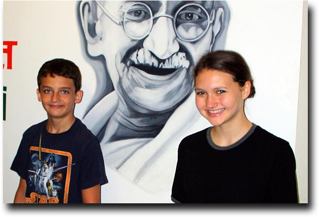 Breck and Alea (with Gandhi) on the last day of school, June 2011
