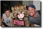 And even got to have a little growl with a tiger. Fun stuff!