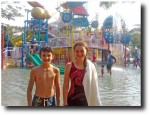 Breck and Alea at the waterpark