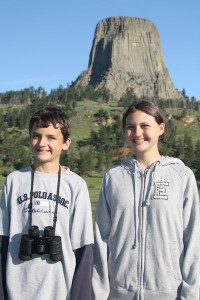 Breck and Alea at Devil's Tower