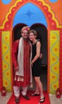 Dave and Suz in their Indian finest