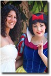 Snow White poses with a guest