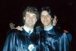 Boris (from Yugoslavia) and Fariborz (from Iran) at their graduation