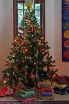 Our tree on Christmas morning!