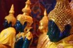 Green Buddhas in Siem Reap
