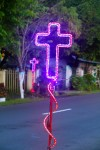 It was Easter, and the Christians around Monado were celebrating in all their neon glory
