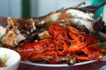 Lake fish and fresh water prawn - yummy!