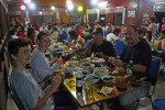 Our first evening out was to a rocking local place, where we had tons of meats, fish, rice, noodles, veggies, etc - for less than $3 per person!