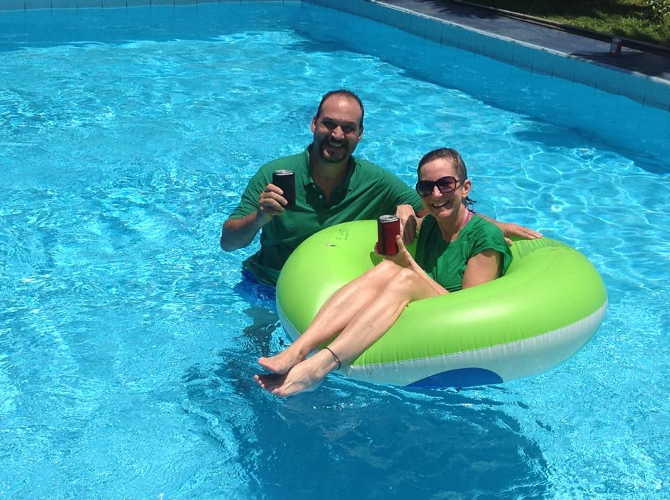 St. Patrick's Day in the pool!