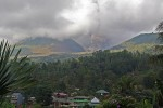 We did wake up one morning to a mild earthquake and some loud noises, to find that Lokon was belching ash into the sky