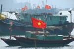 Obviously, there are a lot of boats in that area, all proudly flying the Vietnamese flag.