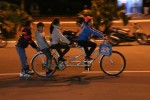 But the kids know how to have a good time, riding around the streets of Cat Ba (in Ha Long Bay) in the evenings!