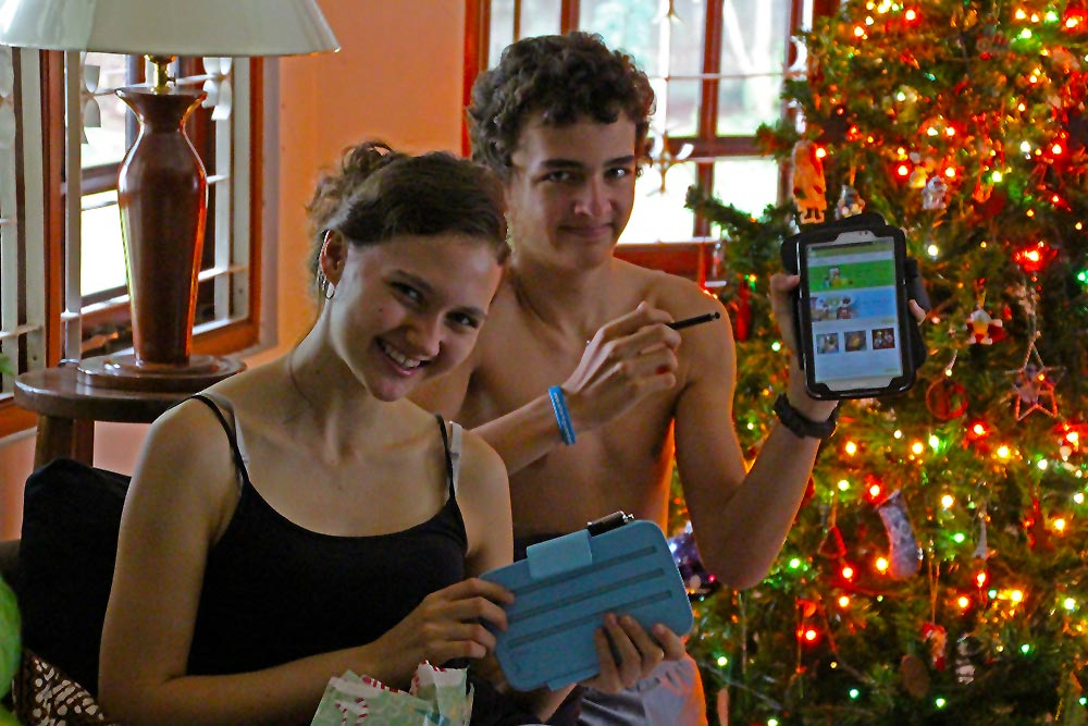 Proud owners of new Samsung Tab 3's