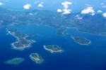 Tiny islets as seen from the air.