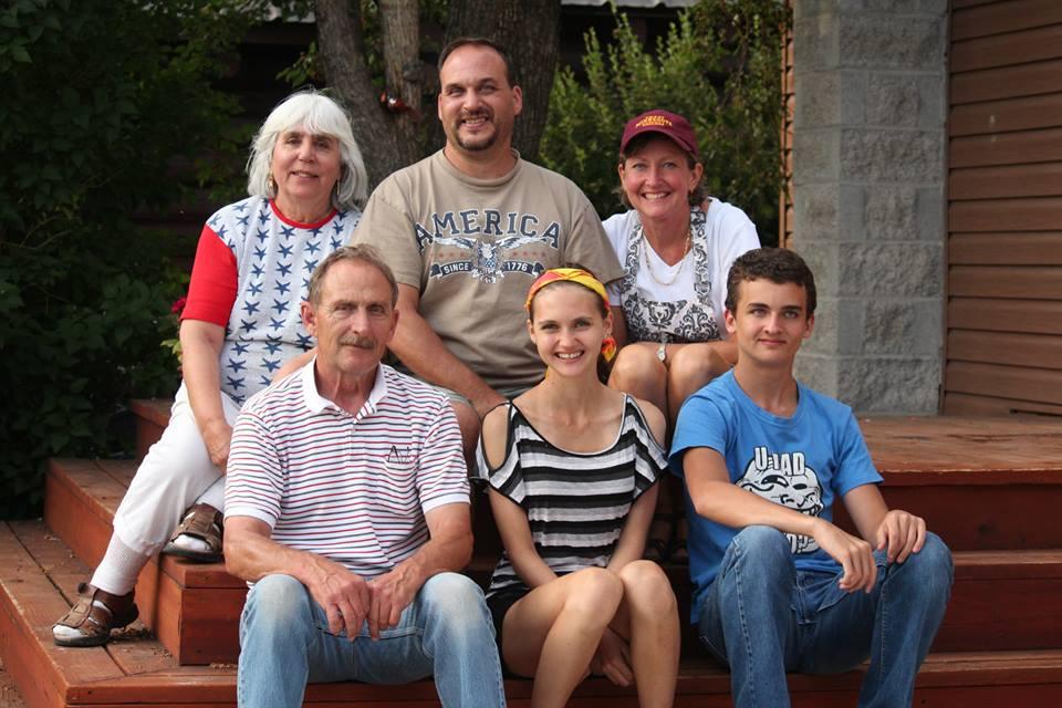 Front - Grandpa Joe, Alea, Breck. Back - Yia Yia, Dave, Susan.