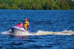 Susan takes her turn on the jet ski as well.