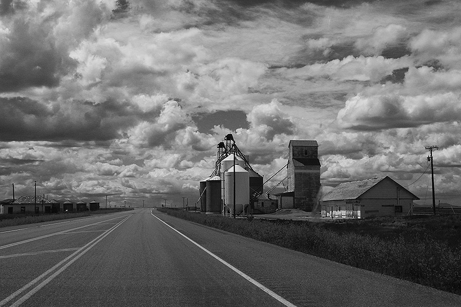 Eastern Montana grain elevators