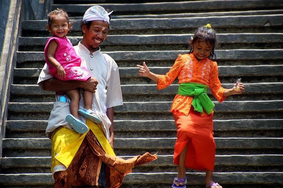 Big smiles in Bali