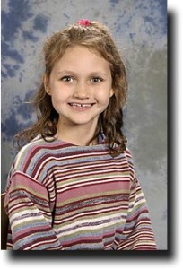 Alea's school picture from third grade