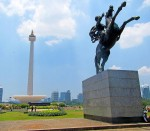We got dropped off at the Monas National Monument and spent some time wandering around the grounds.