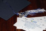 The invites to the big day (and her cool tassel)