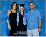 The proud parents with the graduate.