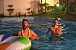 New Year pool mayhem
