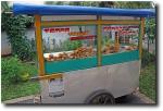 The cart awaits customers!
