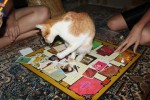 Dori playing Clue with us