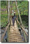 We sometimes had to share narrow walkways with people transporting all sorts of stuff (bamboo poles, in this case)