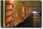 The hallways have enlarged versions of famous murals, as well as free wifi and plenty of sitting space.