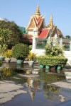 Phnom Penh temple reflected in the water
