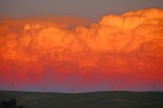 Sunset over Gillette, Wyoming