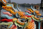 Moving downriver to Hue, the cultural capital of the country, we had the chance to ride on a dragon boat!
