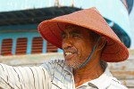 One of the boat drivers who took us to the fishing village across the bay.