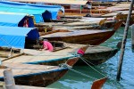Our trip started at the port city of Batam, where we flew from Jakarta. We hopped into boats like these for our trip to the island at which we were staying.