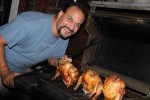 Of course, beer butt chicken was on the menu!