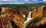 The Lower Falls on the Yellowstone River (in Yellowstone National Park no less).