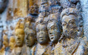 Faces at Borobudur
