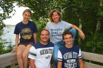And of course we decked ourselves out in Montana State gear at the cabin!