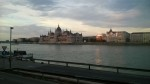 On the river in Budapest - nice!